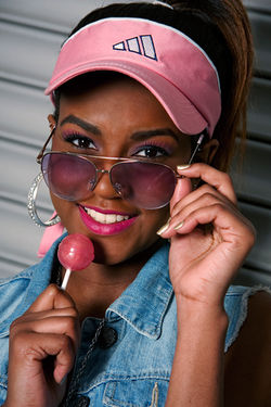 Faith Pink Lollipop Look book shoot