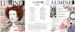 Front cover and Inside cover feature for Luminstyle Magazine  this edition featured London Fashion Week