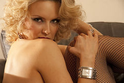 Paulina Watch and Stockings Look book shoot
