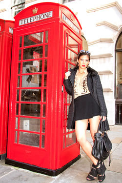 Kamara Look book Girl About Town shoot in Designer Wardrobe