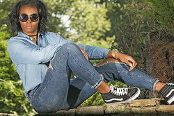 Jeans Sneakers and Shades