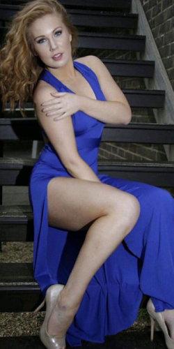Blue Slit Dress