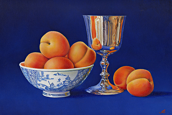 Apricots and a China Bowl