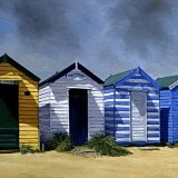 Beach Huts on the Denes, Southwold
