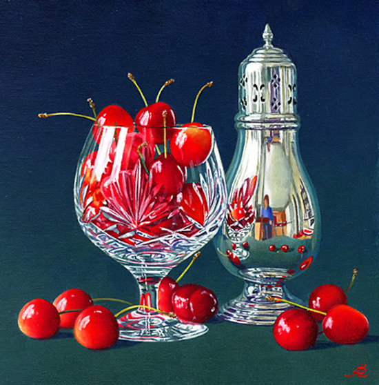 Cherries in a Crystal Glass