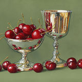 Cherries and a Silver Goblet