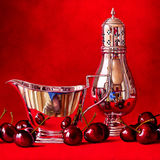 Cherries with a Silver Jug and Sugar Shaker