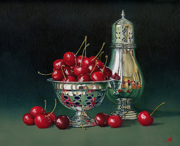 Cherries and Silver