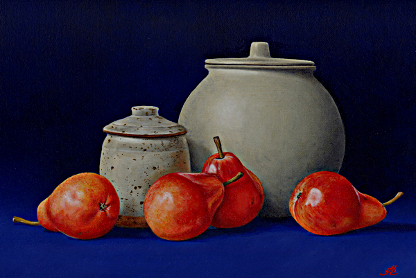 Four Pears, a Honey Pot and a Ginger Jar