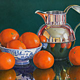 Mandarin Oranges with a Silver Jug