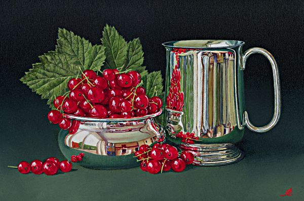 Redcurrants and a Silver Mug
