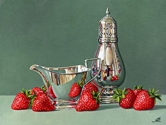 Strawberries, Sugar and Cream