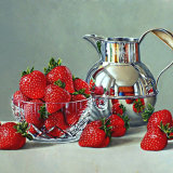 Strawberries with a Silver Cream Jug