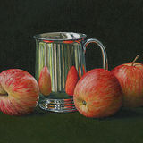 Three Apples and a Silver Mug