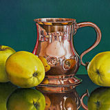 Three Apples with an Old Copper Tankard