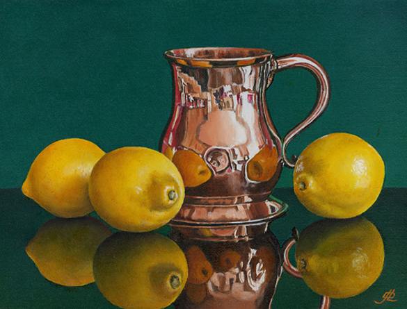 Lemons and an Old Copper Tankard