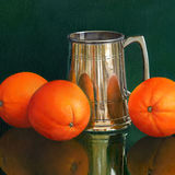 Three Oranges and a Pewter Mug