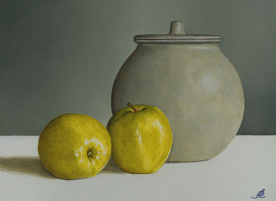 Two Apples and a Ginger Jar