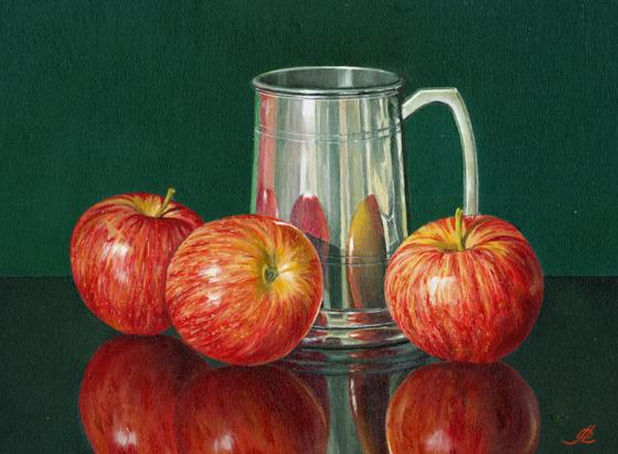 Three Apples and a Pewter Mug