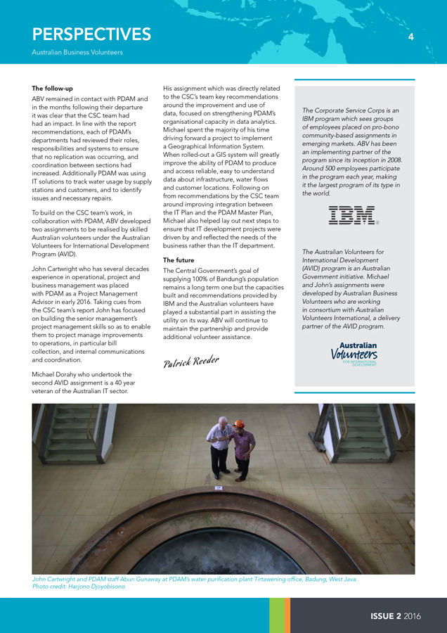 Australian Business Volunteers -Perspectives 2016-2