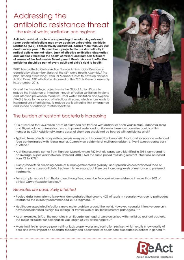 ReAct Factsheet ABR and WASH-2016