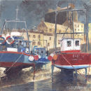 """""""Boats In Tenby Harbour"""""""