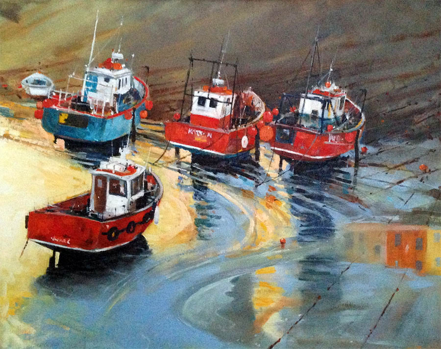 """Tenby Fishing Boats"""