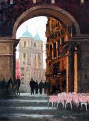 """""""Plaza Mayor Madrid, Evening Sun"""""""