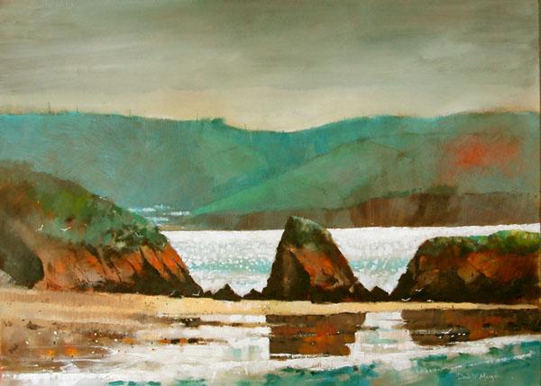 """""""Reflections, Monkstone Beach"""""""