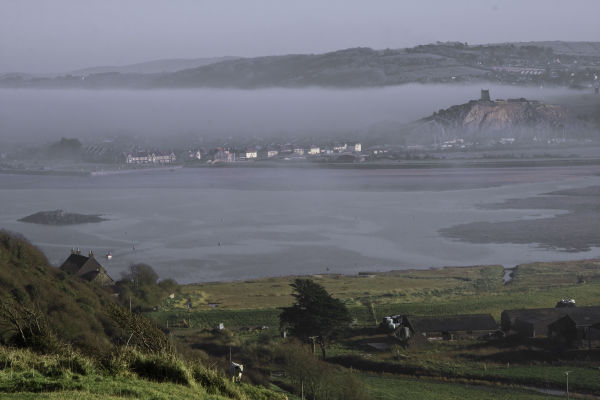 The fog rolling in between WSM and Brean Down