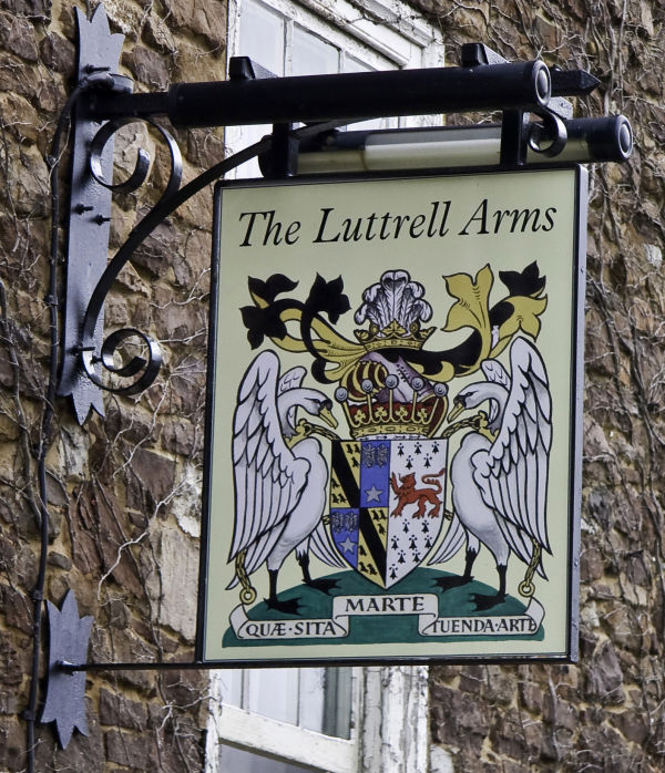 The Luttrell Arms pub sign