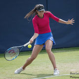 Oceane Dodin in action at the Aegon Ilkley Trophy