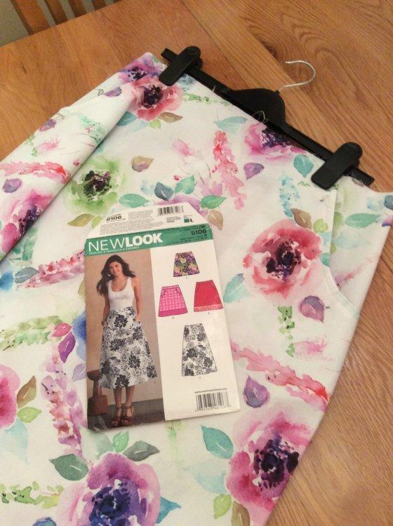 My first summer skirt-in-progress