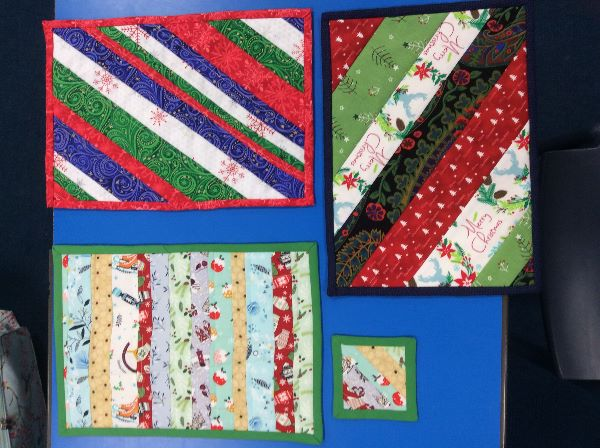 Flip'n'stitch Christmas tablemats at Yateley