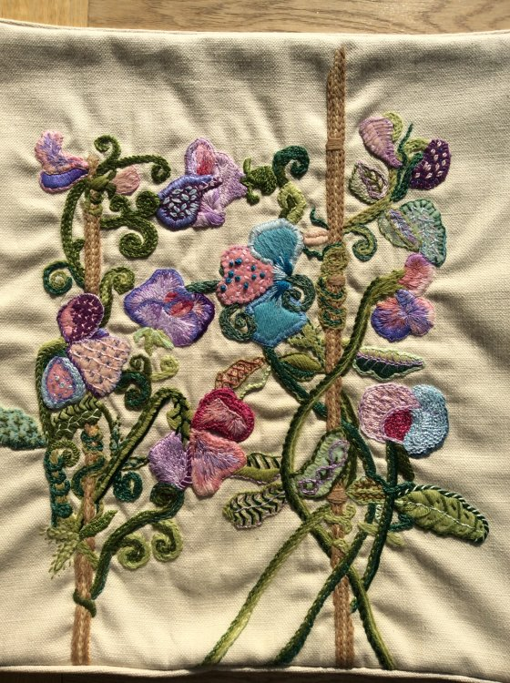 Jacobean Crewelwork with a modern twist