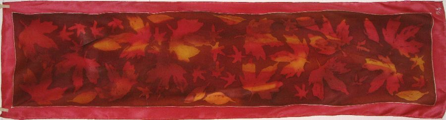 Autumn Red 2013 crepe de Chine batik 150x40cm £35