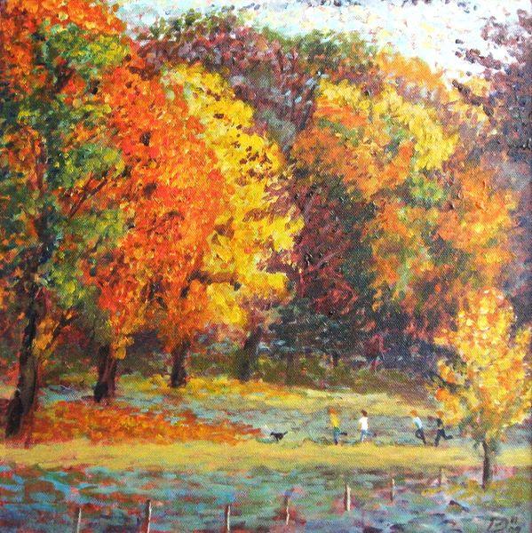 Autumn near Ray, acrylic on canvas