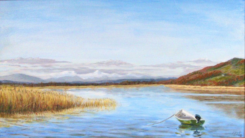 The Tay and Ben Vorlich, acrylic on canvas