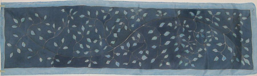 Blue Leaves 2013 Crepe de Chine COMMISSION
