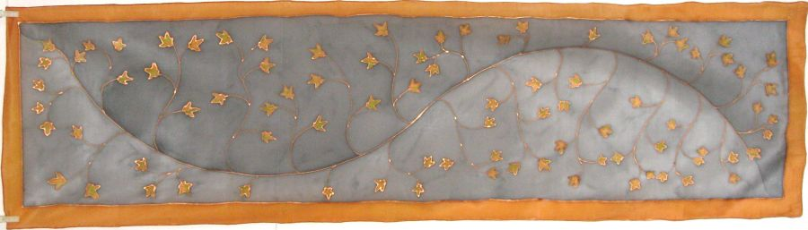 Copper Leaves II 2013 Crepe de Chine COMMISSION