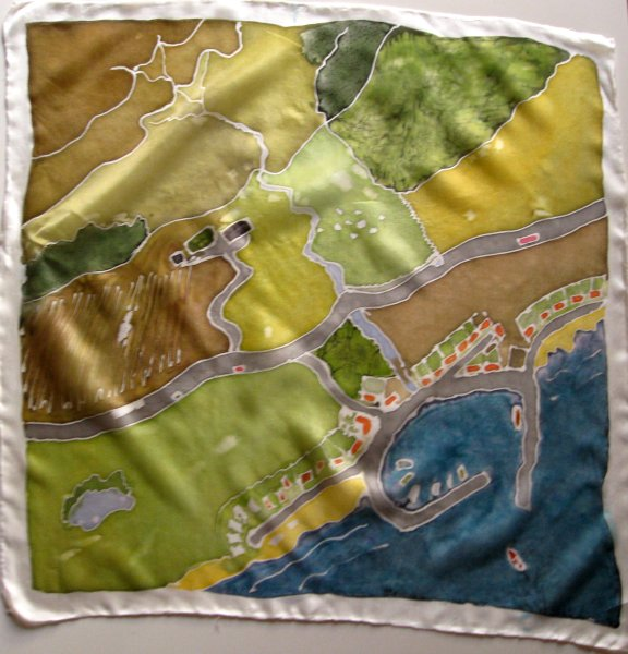 Country Harbour 55x55cm foulard in pongee 5  £15