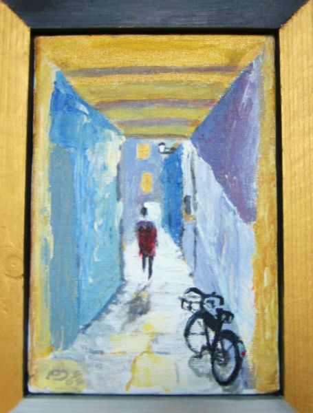 Crail's Lane, acrylic on canvas (SOLD)