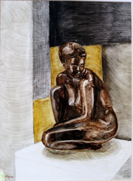 The Glass Girl, acrylic on paper (SOLD)