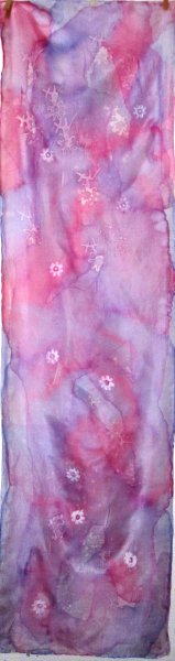 Pink and Purple with daisies 2016 pongee 5 150x40cm batik £30