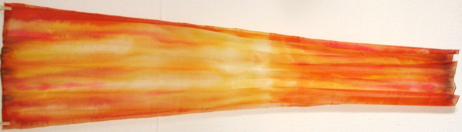 'Poppy Fire' 150x40cm Pongee 5 wet-in-wet  SOLD