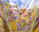 Detail from 'Somewhere in France' scarf