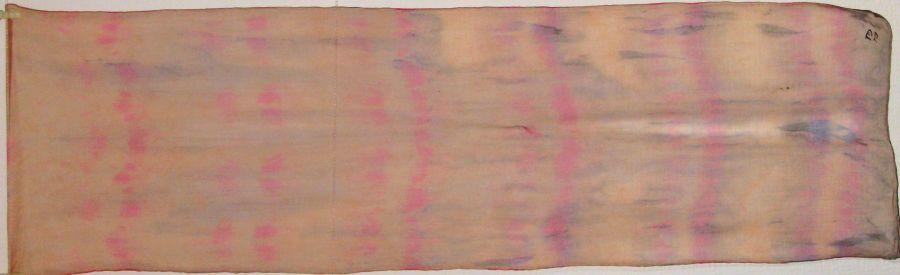 'Sunset' 2013 chiffon shibori 150x40cm