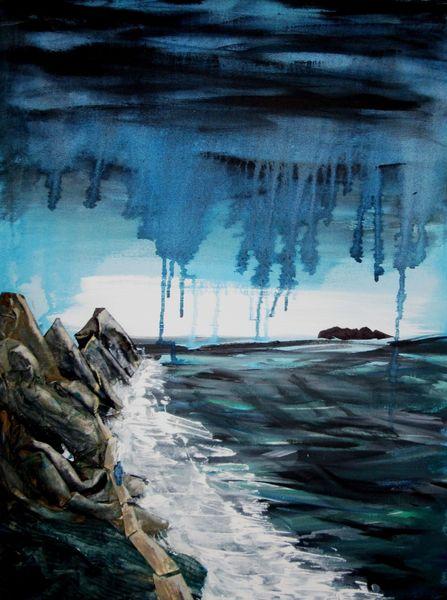 The Precipice Dream 2015 acrylic and collage
