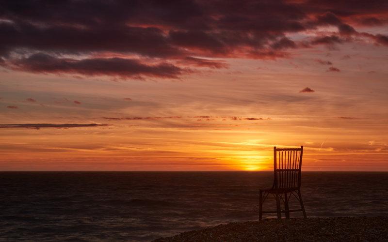 chair sunrise