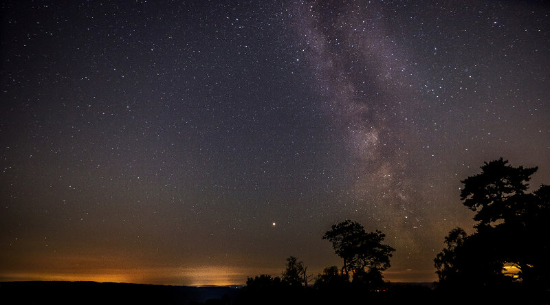 Milky Way and Mars from Surrey